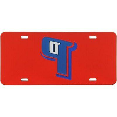 detroit pistons crystal mirror license plate