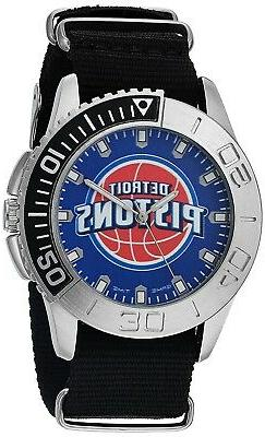 Detroit Pistons Game Time Men's Starter Watch Nylon Strap Me
