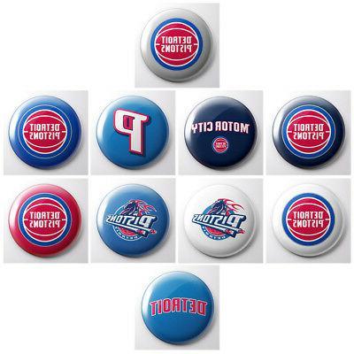 detroit pistons nba basketball pinback buttons sports