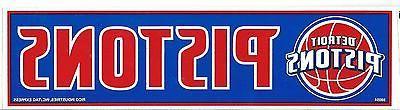 detroit pistons official nba bumper sticker decal
