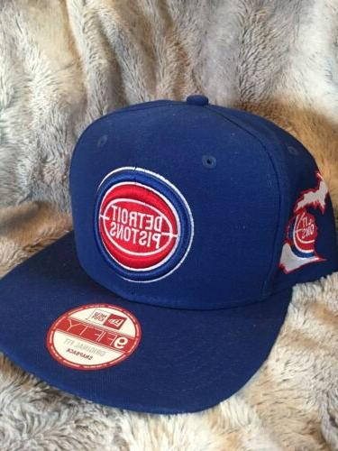 detroit pistons royal 9fifty snapback adjustable hat