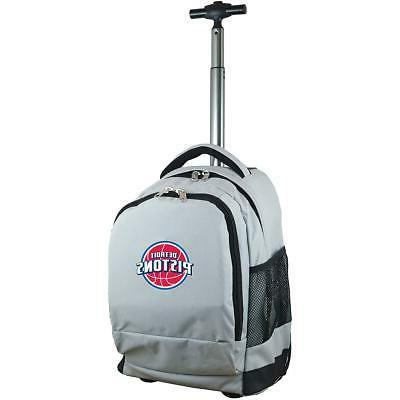 mojo detroit pistons premium wheeled backpack