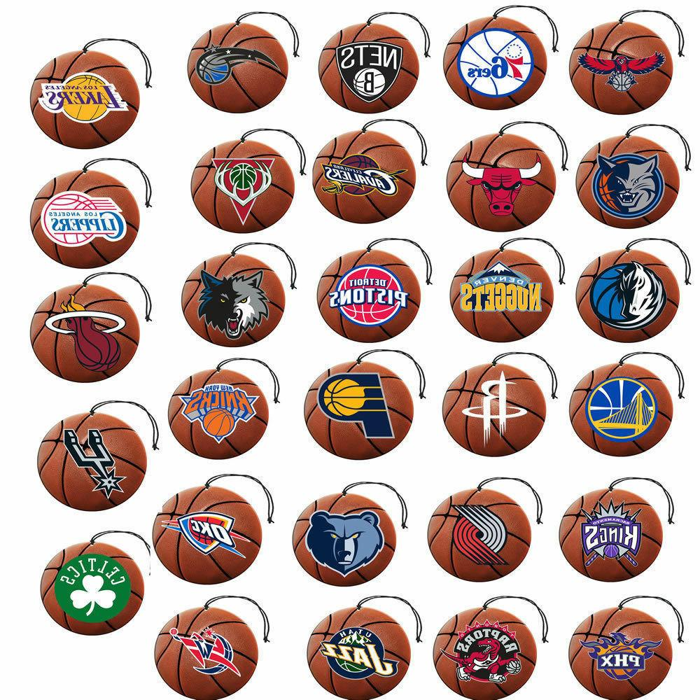 nba 3 pack air freshener team logo