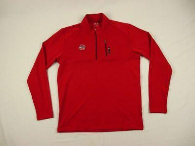 new detroit pistons red poly pullover multiple