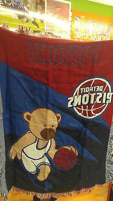 "New Northwest Detroit Pistons Baby Throw Blanket 36"" X 48"""