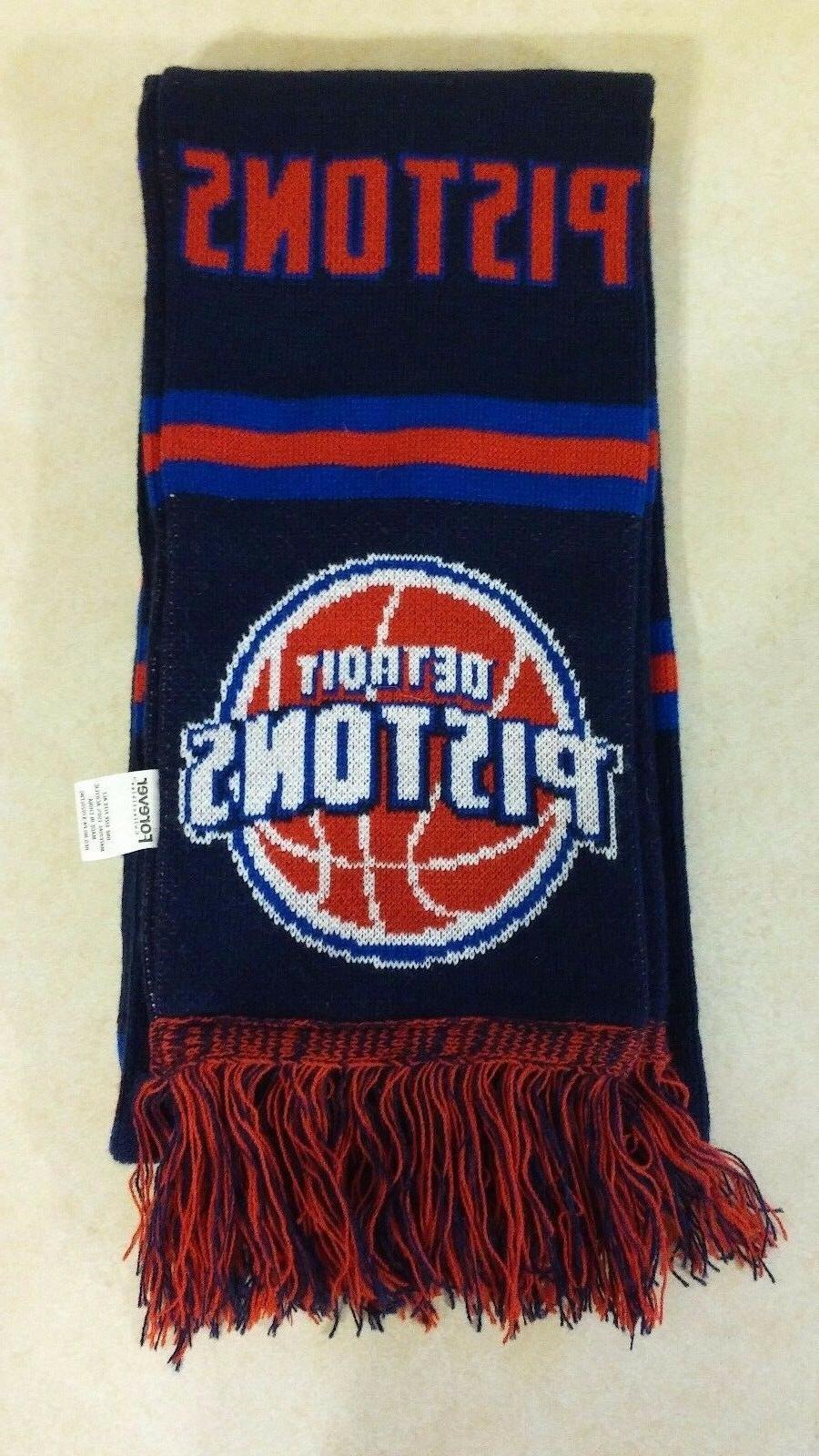 nfl reversible split logo scarf detroit pistons