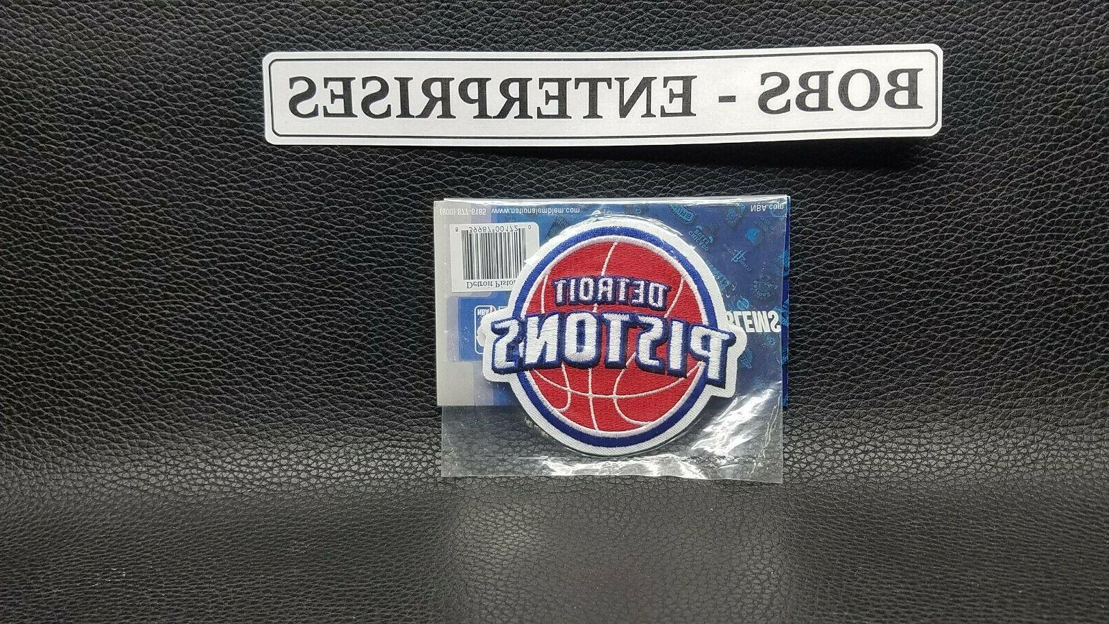official detroit pistons logo nba basketball patch