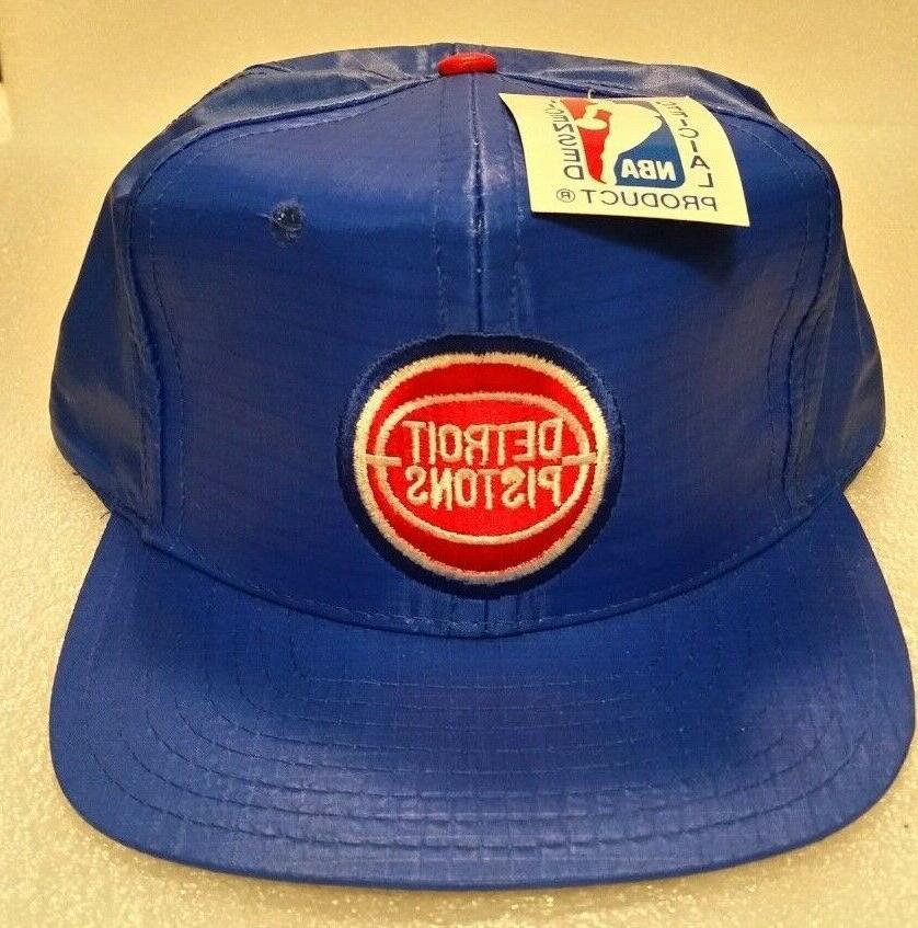 vintage detroit pistons snap back hat pro