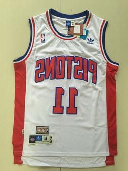 Men's Detroit Pistons Isiah Thomas White Throwback Swingman