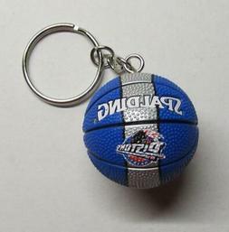 NBA Basketball Detroit PISTONS Ball KEY CHAIN Ring Keychain