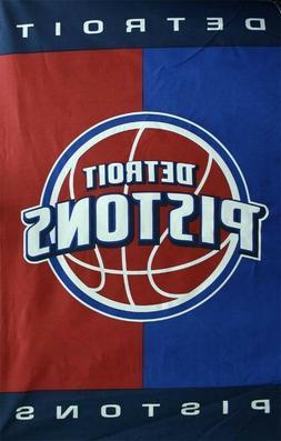 "NBA Cotton Duck Fabric Panel - Detroit Pistons - 30"" X 48"" -"