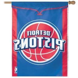 "NBA Detroit Pistons 12872414 Vertical Flag, 27"" x 37"", Black"