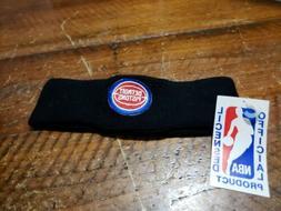 NBA Detroit Pistons Black Headband NEW NOS Vintage