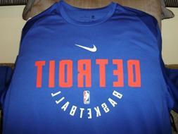 NBA Detroit Pistons NIKE Dry Dri-Fit Long Sleeve Practice Sh