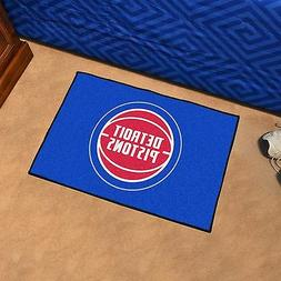 FANMATS NBA Detroit Pistons Nylon Face Basketball Rug