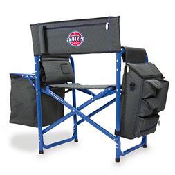 NBA Detroit Pistons Portable Folding Fusion Chair, Grey/Blue