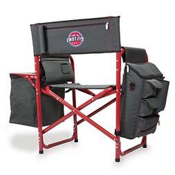 NBA Detroit Pistons Portable Folding Fusion Chair, Grey/Red