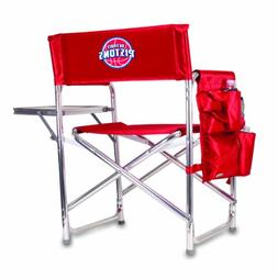 NBA Detroit Pistons Portable Folding Sports Chair, Red