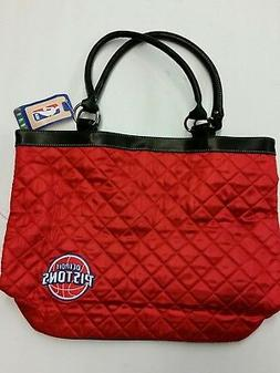 NBA Detroit Pistons Quilted Tote Bag, NEW