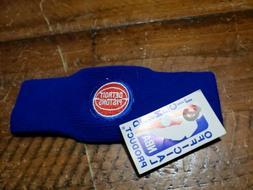 NBA Detroit Pistons Sweatband Headband NEW! BLUE NOS Vintage
