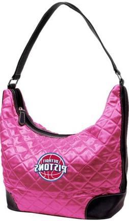 NBA Detroit Pistons Team Quilted Hobo Handbag Shoulder Bag,
