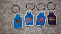 NBA Key chain lot VTG New Lakers Nets Knicks & Pistons varia
