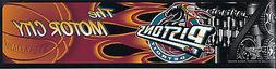 NBA NEW BUMPER STICKER - DETROIT PISTONS