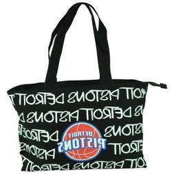 NBA Robin Ruth Detroit Pistons Medium Tote Hand Bag Glitter