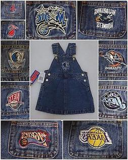 REEBOK NBA TEAM BLUE JEAN DENIM BIB OVERALL JUMPER DRESS BAB
