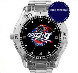 NEW Custom Chrome Men's Wrist Watches DETROIT PISTONS BASKET