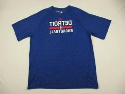 NEW adidas Detroit Pistons - Blue Poly Short Sleeve Shirt