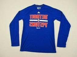NEW adidas Detroit Pistons - Blue/Red  Poly Long Sleeve Shir