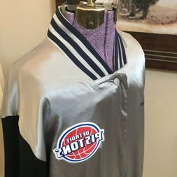 New Detroit Pistons Mens On Court Warm Up Jacket Size XL Sna