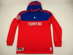 NEW adidas Detroit Pistons - Red/Blue Poly Pullover