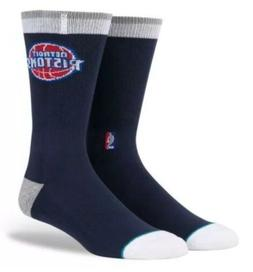 NEW Stance NBA Detroit Pistons ARENA Logo Crew Elite Socks S