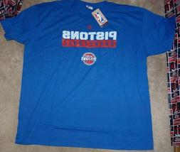 NEW NBA Detroit Pistons Basketball T Shirt Majestic 2XL XXL