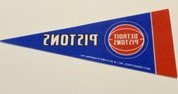 "*NEW* NBA Detroit Pistons Mini Pennant Flag 4""x9"" Basketball"