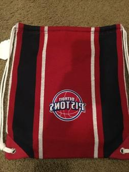 NWT DETROIT PISTONS DRAWSTRING BACKPACK - RED