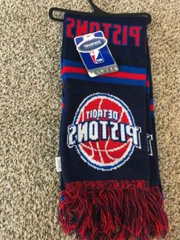 NWT DETROIT PISTONS Winter Scarf Big Logo NBA Basketball by