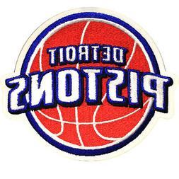 Official Detroit Pistons Logo Large Sticker Iron On NBA Bask