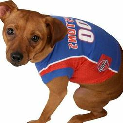 Pets First NBA DETROIT PISTONS DOG Jersey, Large