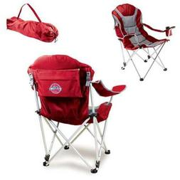 Reclining Camp Chair-Red  Digital Print Tailgate Reclining C
