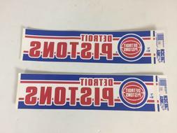 Vintage 1990s Detroit Pistons Bumper Sticker Trench Official