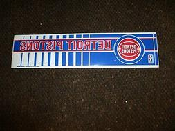 Vintage Dead Stock 1990's DETROIT PISTONS Logo Bumper Sticke