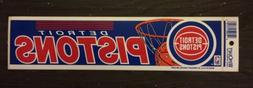 Vintage Detroit Pistons 1990s Bumper Sticker New Old Stock N