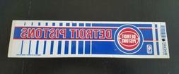 Vintage Detroit Pistons Bumper Sticker