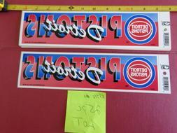 VINTAGE DETROIT PISTONS BUMPER STICKERS 80 / 90's HARDWOOD C
