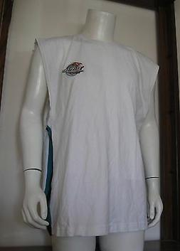 XL Men Pro Edge Detroit Pistons Sleeveless Shirt White Teal